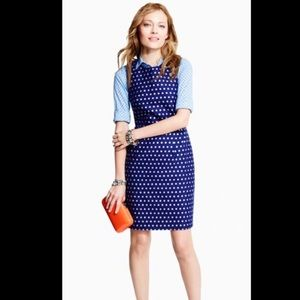 J.Crew silver polka dot dress